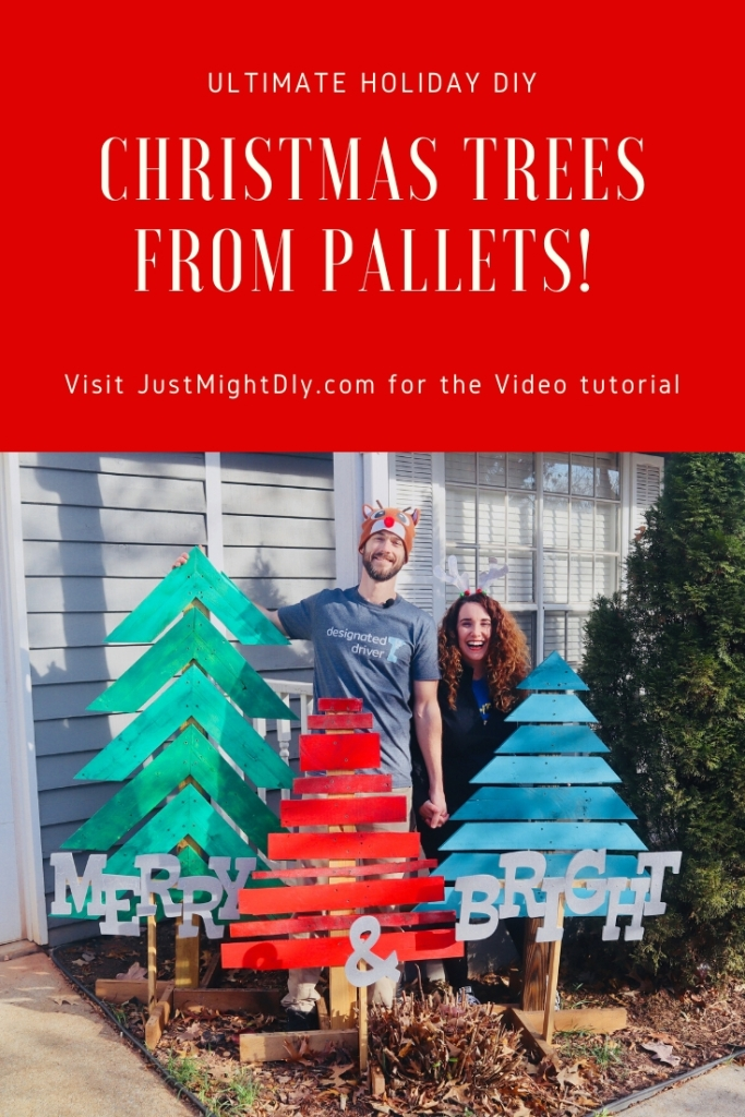 Holiday DIY - Make Christmas Trees from Pallet Wood