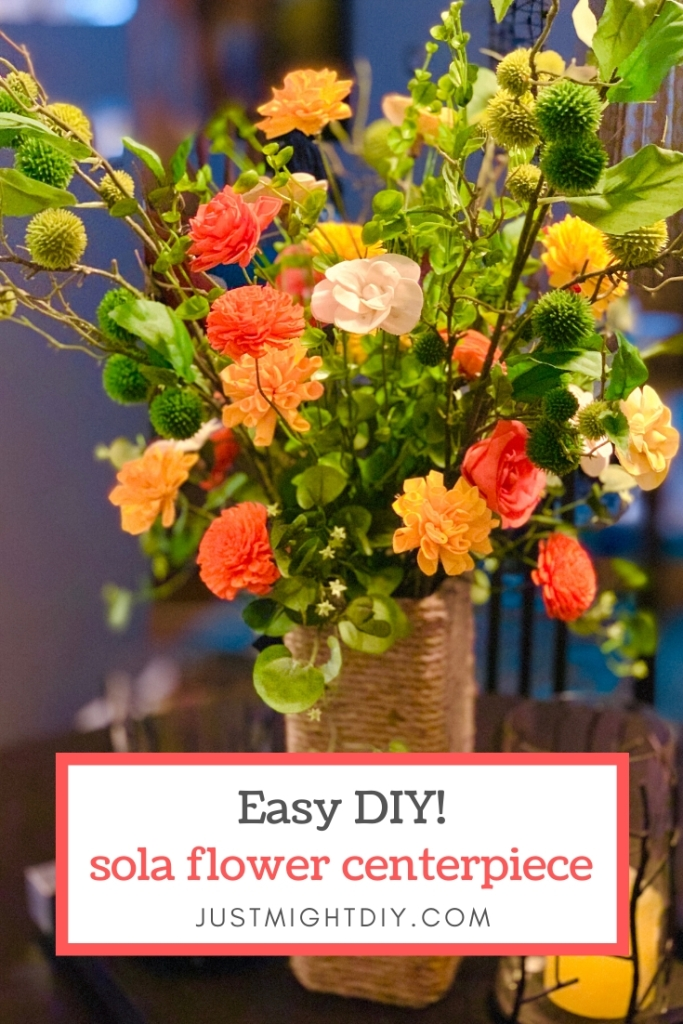 The team at Just Might DIY show you how fun and easy it is to make a large Sola Wood Flower arrangement.