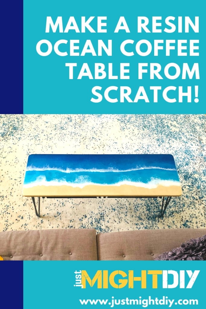 Make a resin ocean coffee table - full video from Just Might DIY!