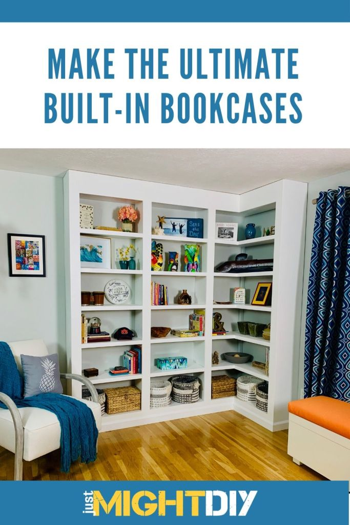 Built-In Bookcase Build - How to build built-in bookcases